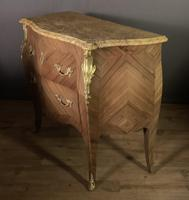 Superb Bleached Walnut Bombe Commode (5 of 9)