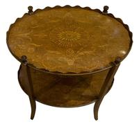 Oval Inlaid Mahogany 2 Tier Table by Shoolbred (4 of 6)