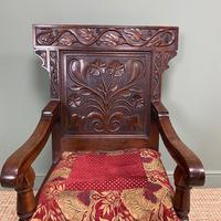 Quality Antique Oak Wainscot Chair (3 of 10)