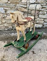 Antique Wooden Push Along Rocking Horse Toy (16 of 19)