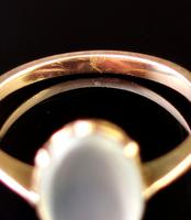 Antique Art Deco Moonstone Cabochon Ring, 9ct Gold (13 of 13)