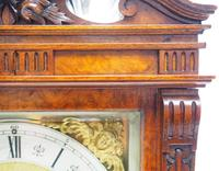 Wow! Superb Antique German Burr Walnut 8-Day Mantel Clock Striking Bracket Clock by Lenzkirch (8 of 10)