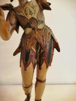 A pair of unusual 19th century cold painted figures of jesters (17 of 18)