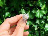 Natural Saltwater Pearl and 2.02ct Diamond, Platinum Dress Ring - Antique French Circa 1915 (2 of 12)