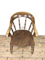 Antique 19th Century Smoker's Bow Chair (2 of 9)
