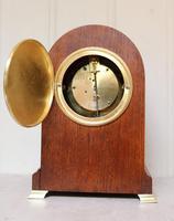 Edwardian Oak Arch Top Mantel Clock (11 of 12)