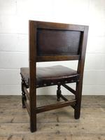 Set of Six Oak and Leather Dining Chairs (13 of 23)