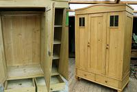 Beautiful Old Pine Triple Knock Down 'Arts & Crafts' Wardrobe  - We Deliver & Assemble!