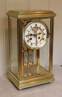 Bell Striking Brass Four Glass Clock (2 of 9)