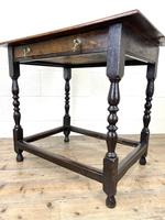 18th Century Antique Oak Side Table (10 of 11)