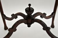 Antique Victorian Carved Mahogany Occasional Table (2 of 7)