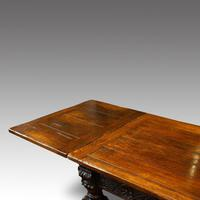 Antique Oak Large Draw-leaf Dining Table (8 of 9)