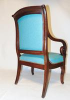Pair French Empire mahogany elbow chairs (5 of 9)