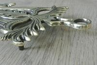 Pair of Aesthetic Movement Brass Flat Iron Trivets c.1880 (5 of 5)