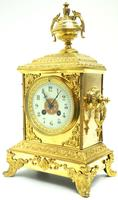 Fine French Ormolu Cubed Mantel Clock Classic 8 Day Striking Mantle Clock (9 of 10)