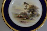 Royal Worcester Dish 1914 - Hand-painted Lowland Cattle by John Stinton, (3 of 9)