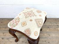 Late Victorian Carved Mahogany Stool (8 of 8)