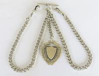 Antique Silver Double Watch Chain