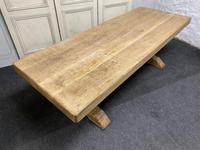 Large French Bleached Oak Farmhouse Dining Table (4 of 19)