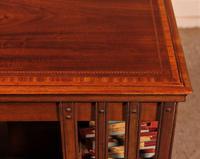English Revolving Bookcase in Mahogany & Inlays (10 of 10)