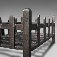 Antique Fire Basket, English, Cast Iron. Fireside, Grate, Late Victorian c.1900 (9 of 10)