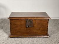 Small Spanish Walnut Chest From The 17th Century,
