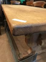 Good Solid Oak Large Refectory Table (2 of 7)
