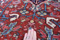 Antique Heriz Carpet 366x228cm (8 of 10)