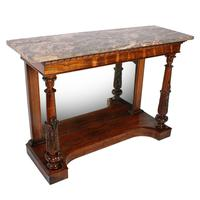 Georgian Marble Top Console Table