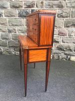 Antique Inlaid Satinwood Ladies Writing Desk (3 of 15)