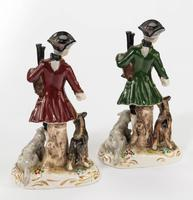 Pair of early 20th Century Continental Porcelain Figures of Huntsman and Animals (4 of 4)