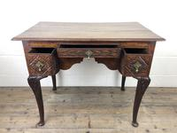 Antique 19th Century Carved Oak Lowboy Side Table (7 of 17)