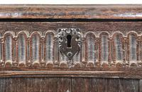 Antique 18th Century Oak Coffer With Carved Front (8 of 16)