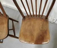 4 High Windsor Beech & Elm Hoop Back Windsor Chairs (4 of 5)