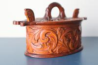 Scandinavian / Norwegian 'Folk Art' Baroque / Acanthus Carved Tine Box c.1910 (12 of 39)