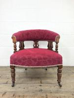 Pair of Victorian Mahogany Upholstered Tub Chairs (5 of 15)