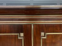 Early 19th Century Brass Mounted Flame Mahogany Linen Press (9 of 21)