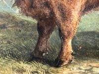 Victorian Scottish Highland Painting of Cattle by Aster Richard Chilton Corbould (36 of 40)