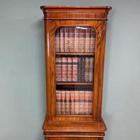 Tall Slim Victorian Mahogany Antique Bookcase on Cupboard (5 of 10)