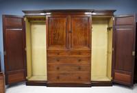 19th Century Mahogany Breakfront Wardrobe (12 of 12)