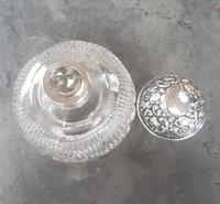 Sterling Silver Topped Cut Glass Perfume Bottle (3 of 4)