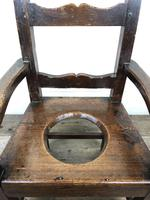 Antique Stained Pine Child's Potty Chair (7 of 12)