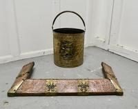 Arts and Crafts Victorian Brass and Copper Fender (2 of 5)