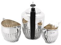 Sterling Silver Three Piece Tea Service - Boxed - Antique Victorian 1894 (4 of 19)