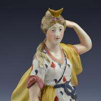 Large Staffordshire Pottery Pearlware Figure of Diana c.1820 (10 of 11)