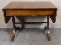 Regency Style Inlaid Mahogany Sofa Table by Thomas Glenister High Wycombe, Bucki (4 of 9)