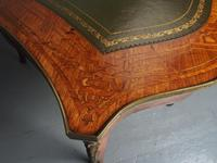 Antique Victorian Inlaid Kingwood Writing Table (14 of 14)