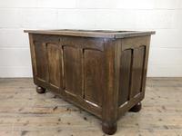 Vintage Oak Panel Blanket Box or Coffer Chest (8 of 15)