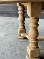 French Bleached Oak Refectory Farmhouse Dining Table (17 of 26)