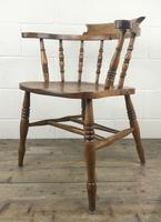 Antique Beech and Elm Smoker's Bow Armchair (15 of 16)